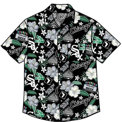 Men's Chicago White Sox Floral Button Down Hawaiian Shirt