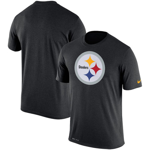Men's Pittsburgh Steelers Nike Black Legend Performance Logo Essential 3 T-Shirt
