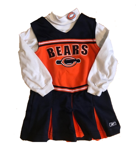 Youth Girls Reebok Chicago Bears 2 Piece Cheerleader Outfit