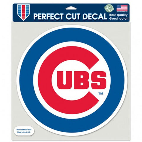 Chicago Cubs Perfect Cut 8X8 Bullseye Logo Decal
