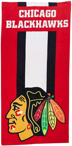 Chicago Blackhawks Zone Read Beach Towels
