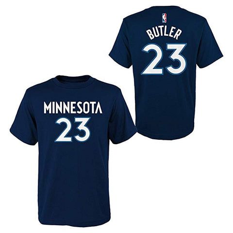 Youth Minnesota Timberwolves Jimmy Butler Name and Number Tee
