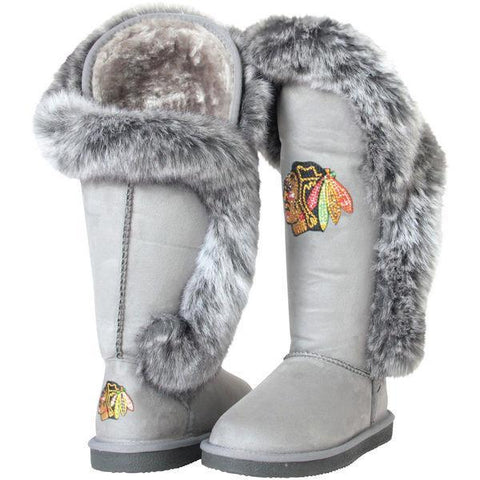 Women's Chicago Blackhawks Gray Cuce Winners Boots