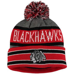 Chicago Blackhawks Old Time Hockey Storm Cuffed Knit Hat with Pom - Pro Jersey Sports - 1
