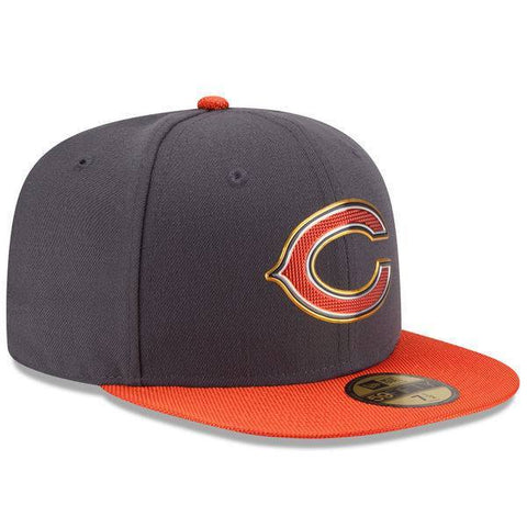 Men's Chicago Bears New Era Graphite/Orange Gold Collection On Field 59FIFTY Fitted Hat - Pro Jersey Sports - 1