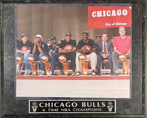 Chicago Bulls 6 Time NBA Champions Wall Plaque