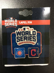 2016 World Series Chicago Cubs VS Cleveland Indians Dueling Pin