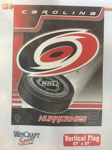 Carolina Hurricanes Team Logo Vertical Flag