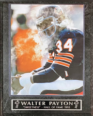 "Walter Payton ""Sweetness"" Hall of Fame 1993 Chicago Bears Plaque"