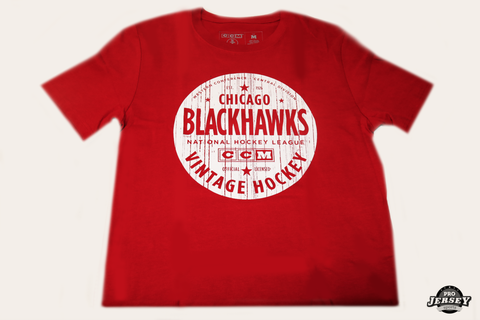 Chicago Blackhawks Varsity Club Brushed Tee