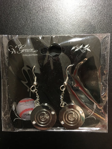 Chicago Cubs Sterling Silver Team Logo Dangle Earrings