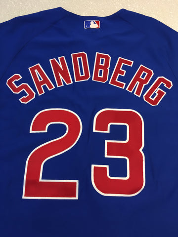 Men's Chicago Cubs Ryne Sandberg Alternate Authentic Polyester Jersey