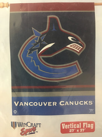 Vancouver Canucks Retro Team Logo Vertical Flag