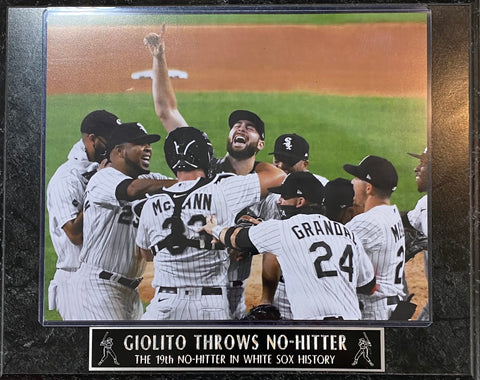 Lucas Giolito No Hitter Chicago White Sox Plaque