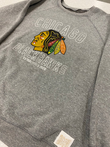 Men's Chicago Blackhawks EST.1926 Retro Brand Crewneck