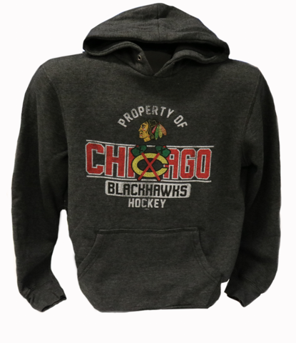 Chicago Blackhawks Property Of Mens Heather Hoody