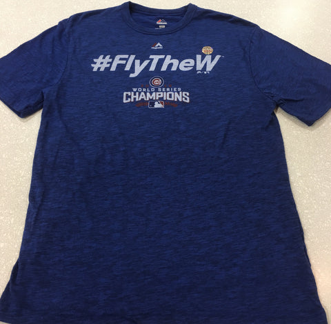Men's Chicago Cubs World Series Champions #FLYTHEW Tee