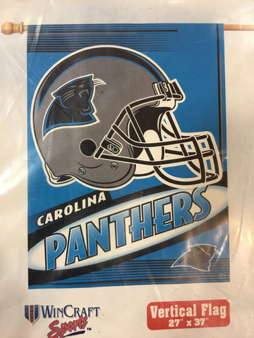 Carolina Panthers Team Logo Vertical Flag