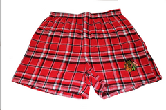 Chicago Blackhawks Adult Plaid Bleacher Boxer