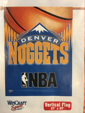 Denver Nuggets Retro Logo Vertical Flag