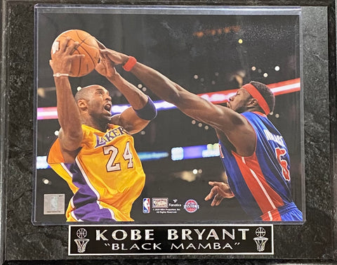 "Kobe Bryant ""Black Mamba"" Los Angeles Lakers Wall Plaque"