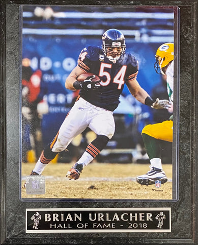 Brian Urlacher Hall of Fame 2018 Chicago Bears Wall Plaque