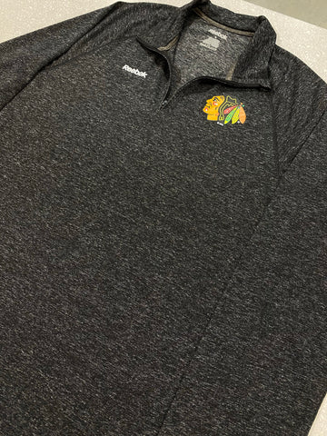 Men's Chicago Blackhawks Superior Locker Room Quarter-Zip Pullover