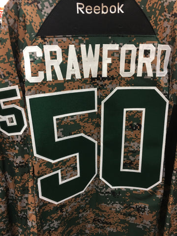 Mens Chicago Blackhawks Corey Crawford Forest Camo Practice Jersey