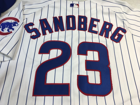 Men's Chicago Cubs Ryne Sandberg Authentic Home Polyester Jersey