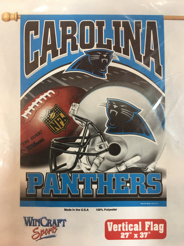 Carolina Panthers Duel Team Logo Vertical Flag