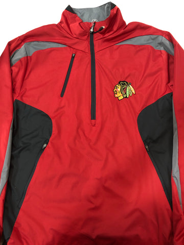 CHICAGO BLACKHAWKS DISCOVER 1/4 ZIP WINDBREAKER
