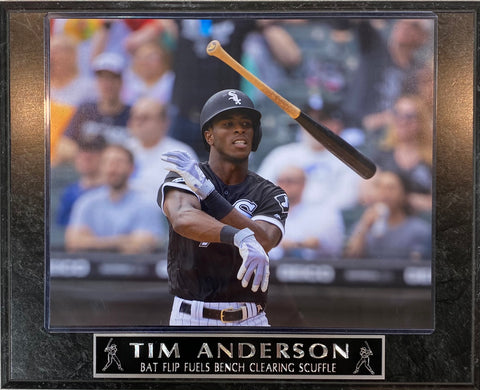 Tim Anderson Bat Flip Chicago White Sox Plaque