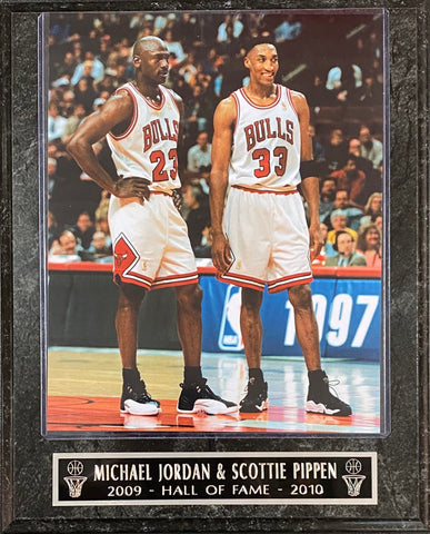 "Michael Jordan & Scottie Pippen Chicago Bulls ""2009-Hall of Fame-2010 Hall of Fame"" Plaque"