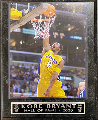 Kobe Bryant Los Angeles Lakers Hall of Fame 2020 Wall Plaque