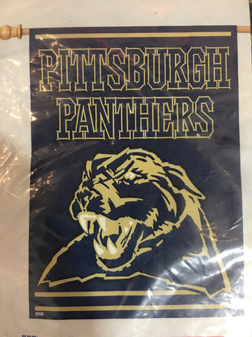 Pittsburgh Panthers Team Logo Vertical Flag