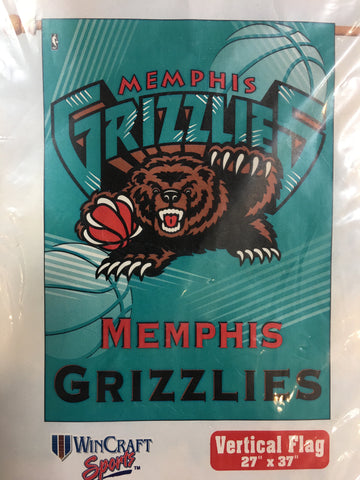 Memphis Grizzlies Retro Logo Vertical Flag