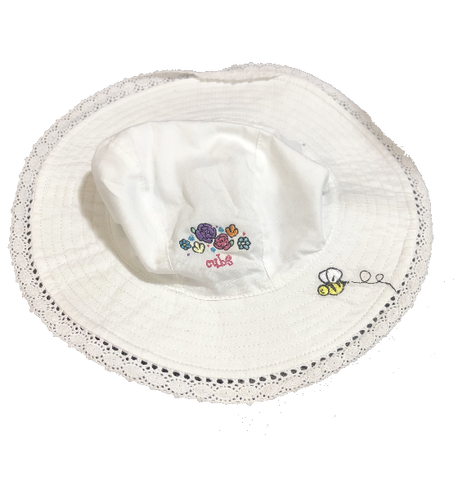 Chicago Cubs Sun And Lace Infant White Floppy Hat By New Era