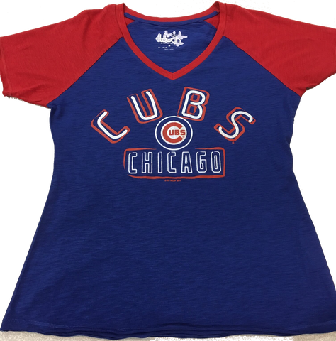 Women's Chicago Cubs Royal Ace Tee by Touch