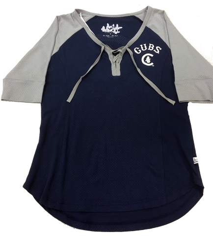 Women's Chicago Cubs Navy/Gray Perfect Game Top