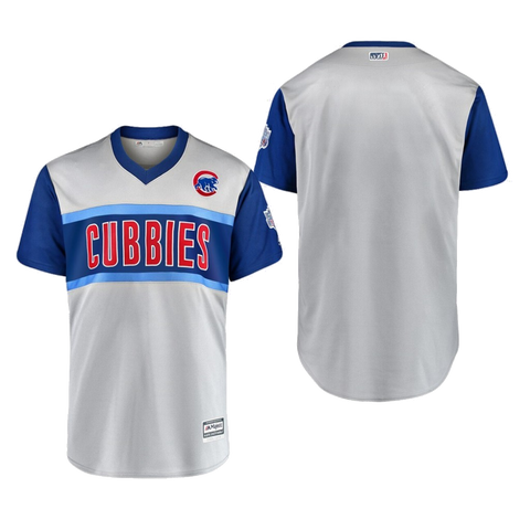 Men's Chicago Cubs Majestic Gray 2019 MLB Little League Classic Replica Team Jersey