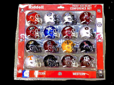 NCAA Pocket Pro Helmet 2020 SEC Conference Set By Riddell