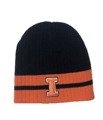 Men's Top of the World University of Illinois Fighting Illini Striped Reversible Knit Hat