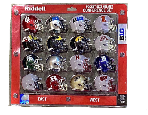 NCAA Pocket Pro Helmet 2020 Big Ten Conference Set By Riddell