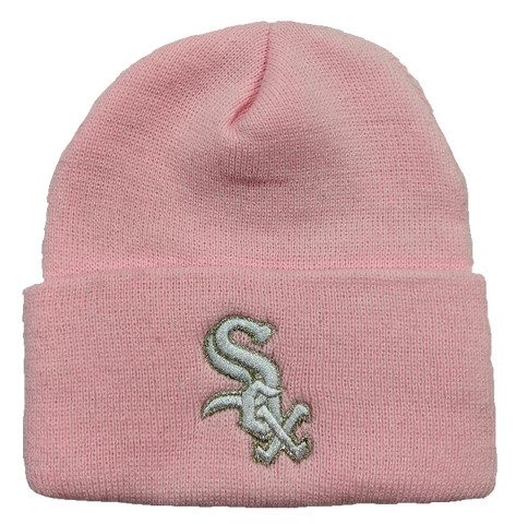 Chicago White Sox Pink Cuffed Knit Hat