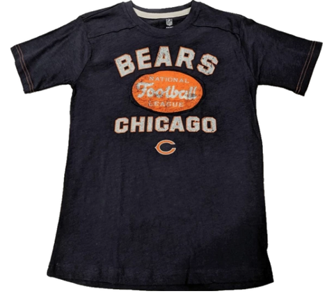 Chicago Bears Youth Navy Vintage Crew Neck Tee