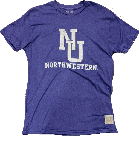 Men's NCAA Northwestern Wildcats Retro Brand Purple Heather Tee
