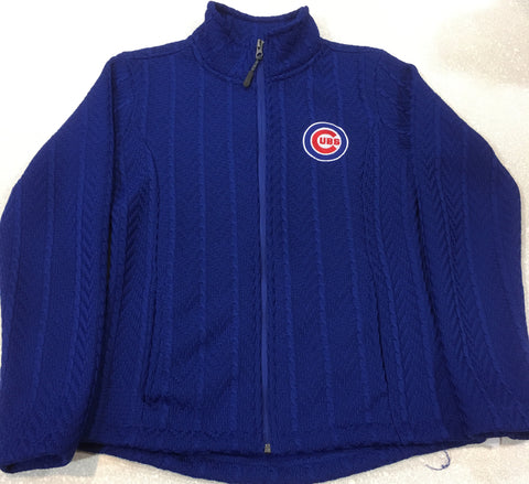 Women's Chicago Cubs Royal Crossover Full Zip Jacket by G-III Sports