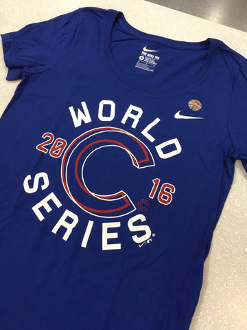 Women's Chicago Cubs World Series Champions Scoop Neck Tee