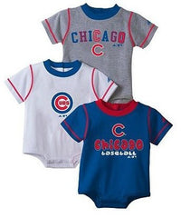 Adidas Chicago Cubs 3-pk. Bodysuits - Infant - Pro Jersey Sports
