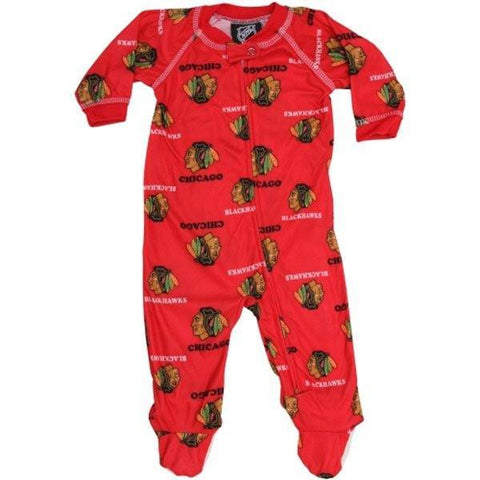 Chicago Blackhawks Infant Red All Over Raglan Coverall